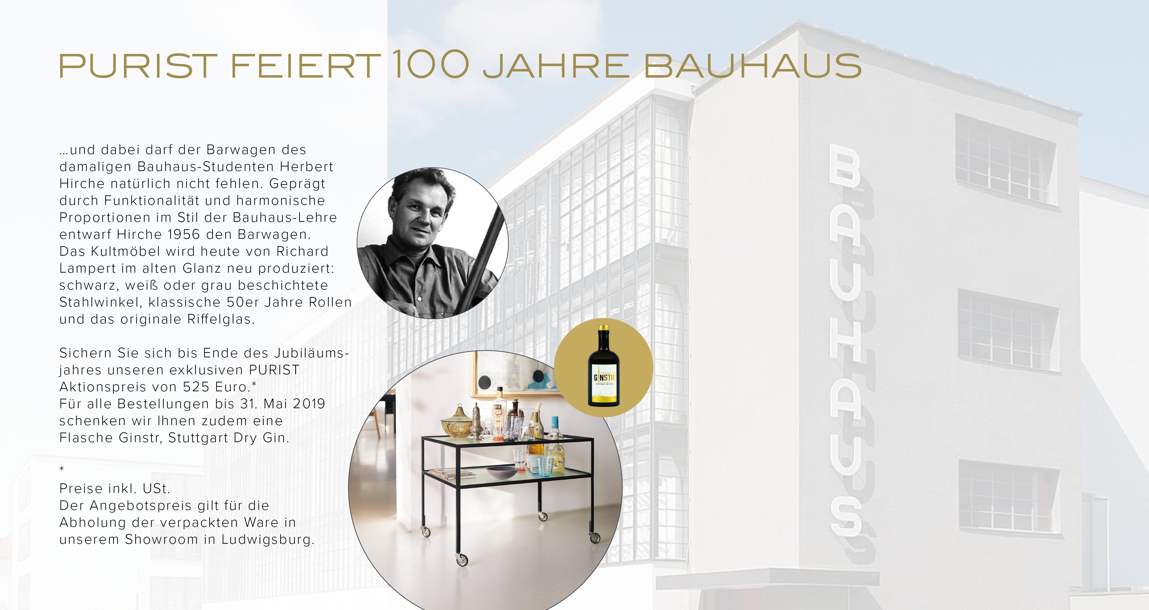 PURIST FEIERT 100 JAHRE BAUHAUS